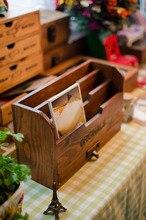 Zakka продуктовый Открытка коробка для хранения ретро сделать старый деревянный ящик твердой древесины отделки коробка стол органайзера старинные коробки