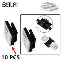 Draht Bündel Halter Halterung Clip Selbst-adhesive 10 teile/los für 10mm breite Fix RGBWW LED Streifen lichter stecker Halterung Geeignet