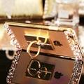 2016 nova luxury rhinestone limpar transparente soft case de silicone para huawei honor 5x mate 7 mate 8 companheiro s honor 4x telefone cobrir