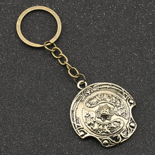 DOTA 2 Immortal Champion Shield พวงกุญแจ DOTA2 Aegis of Champions Vintage Retro Antique Bronze Keyring Key Chain แหวนขายส่ง(China)