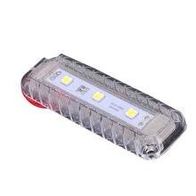 12 v conduziu a luz da abóbada da sala de armazenamento plástico lâmpada leitura branca para o barco iate marinho a motor acessórios para casa