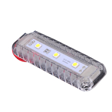 12V LED Storage Room Dome Light Plastic White Reading Lamp for Marine Yacht Boat Motor Home Accessories