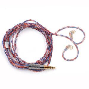 Image 4 - Кабель для наушников CCA 8 жильный кубический посеребренный обновленный кабель для наушников CCA C16 C10 CA4 C16 ZS10 PRO AS16 AS10 ZST ES4