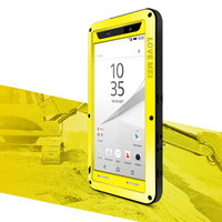 Aluminum Metal Case For Sony Z5 Case Shockproof Gorilla Glass Metal Cover Phone Armor For Sony Xperia Z5 Case Compact Premium