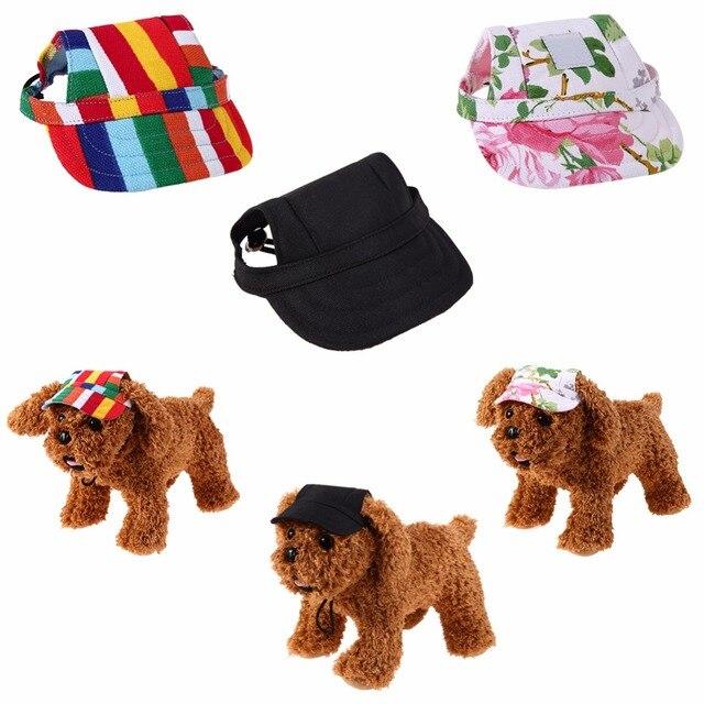 Perro de mascota sombrero verano perro lienzo gorra de béisbol sólo ...