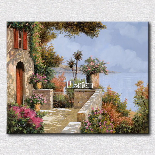 US $11.88 |Dream house picture oil paintings hang on the bedroom wall for  decorating printed canvas landscape-in Painting & Calligraphy from Home &  ...