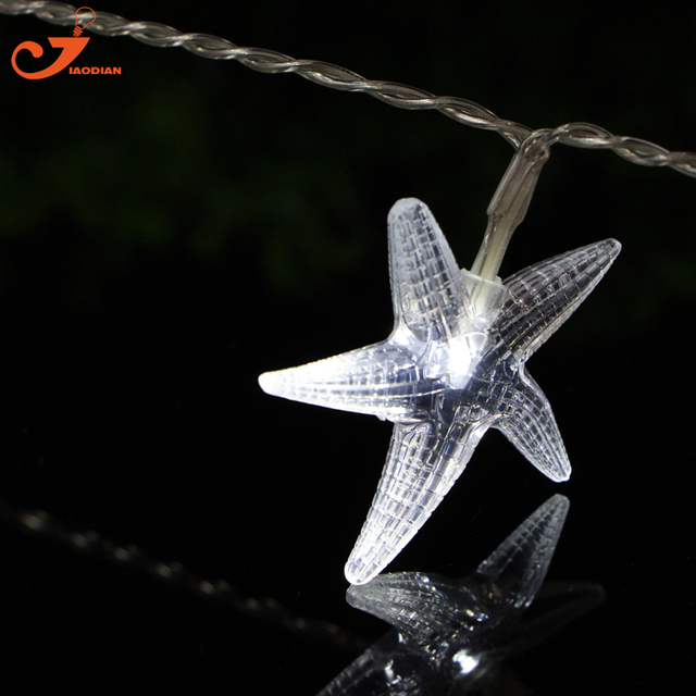 Starfish Lighting Novelty Lights Scallop Shells String Light Seashell Garland Decorative Beach Decorations Seagypsys Battery