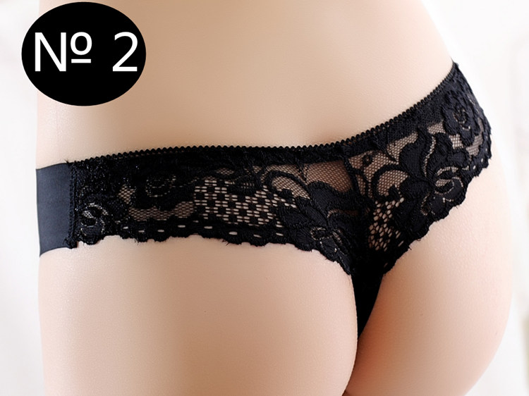 Seamless Underwear, Women's Panties, Thongs Panties, Female G String, Sexy Lace Underwear Lace Panties 4