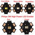 10PCS LUXEON Rebel ES 3W High Power LED Light Emitter Chip Diode White Warm White Red Green Royal Blue 3.2-3.4V 700mA 20mm PCB