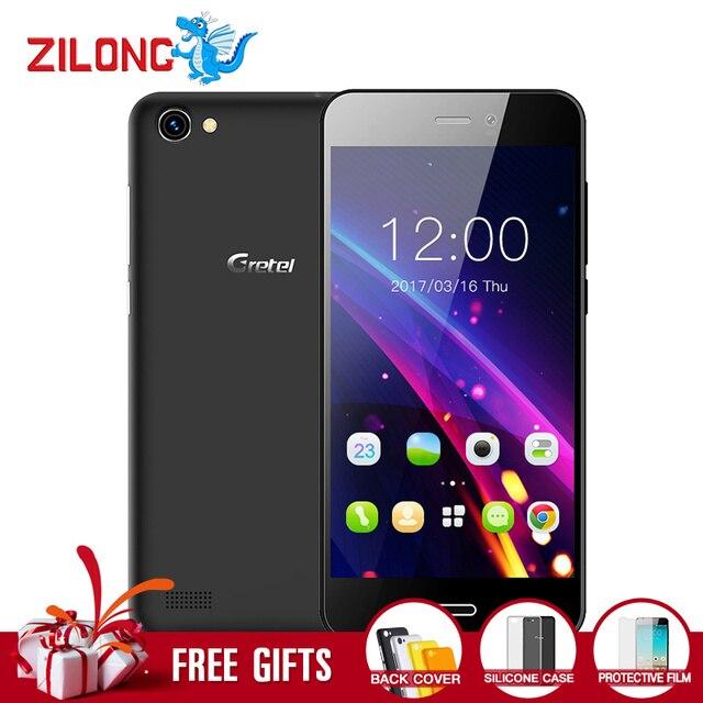 Гретель A7 4.7 ''4 ядра 3 г мобильного телефона Android 6.0 MTK6580 1 ГБ Оперативная память 16 ГБ Встроенная память смартфон 8.0 MP Камера Dual SIM GPS телефона