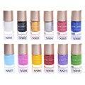 NICOLE DIARIO 9 ml Dulce Color Nail Art Stamping Stamping Esmalte de Uñas de Arte de Laca de Uñas Polaco del Barniz 13 Colores