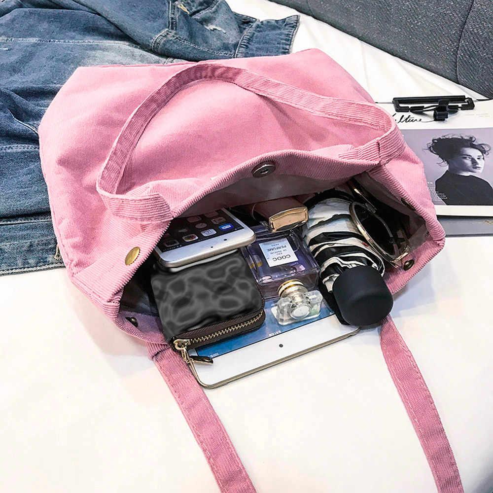 Sztruksowa torba na ramię torba damska damska w stylu casual, damska torba składana wielokrotnego użytku zakupy zima sac a main femme #20