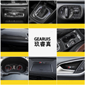 Novo Design De Fibra De Carbono Suporte de Copo Moldura Decorativa Capa Guarnição S/RS/S linha Adesivo Emblema Reequipamento Interior Exterior Para Audi Q3