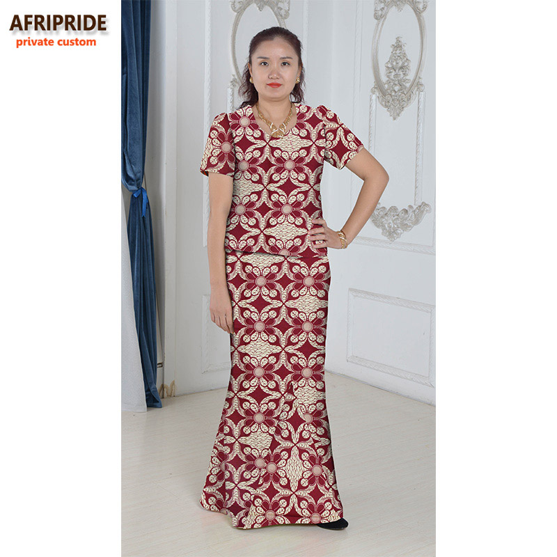 Gaun elegan Afrika ditetapkan untuk wanita femmes gaya afrika pakaian - Pakaian kebangsaan - Foto 2