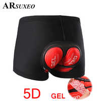 ARSUXEO Cycling Shorts Unisex MTB Mountain Bicycle Road Cycling Comfortable Underwear 5D gel Padded Riding Bike Downhill Shorts