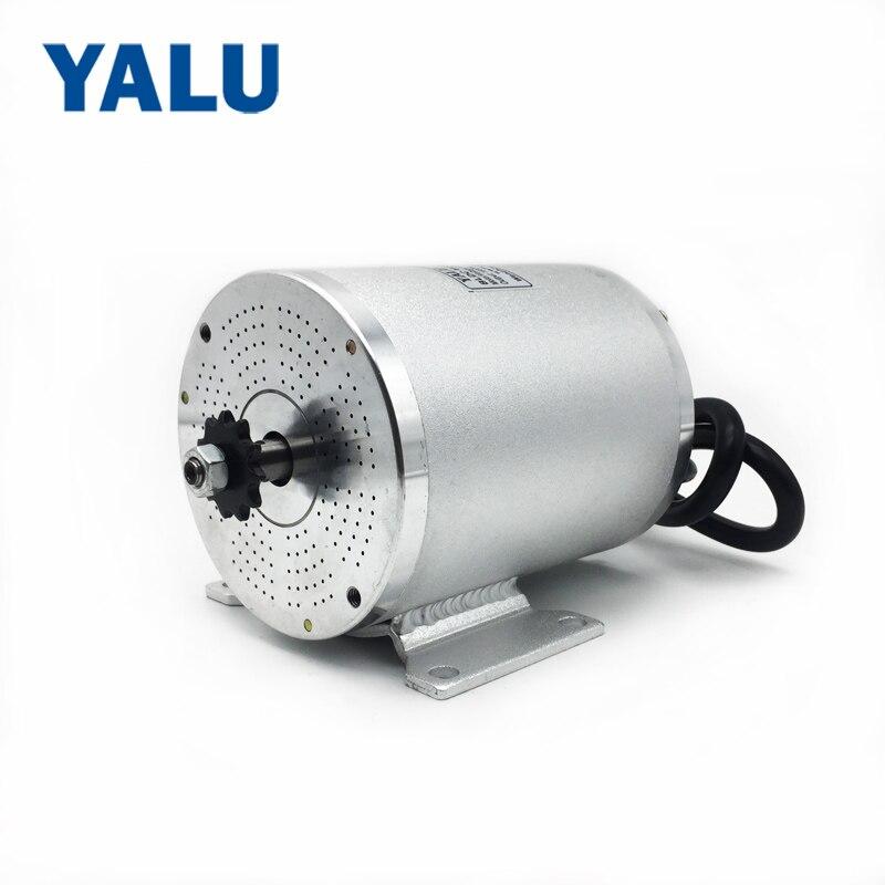 Здесь можно купить  YALU BM1109 BLDC Motor Brushless 60V Electric Motor 1800W Electric Ebike Mid Drive Motor For Electric Bicycle Scooter Motor Kit  Спорт и развлечения