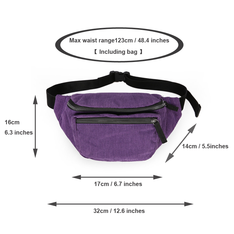 2019 NEW fashion women 39 s waist bags travel money fanny pack for women gilrs waist packs black belt chest bag in Waist Packs from Luggage amp Bags