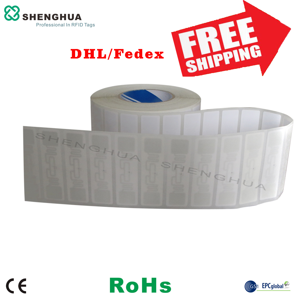 1000PCS Cheap Disposable Passive Rfid Label Adhesive Asset Tracking Adhesive Rfid Tag Sticker Security Label