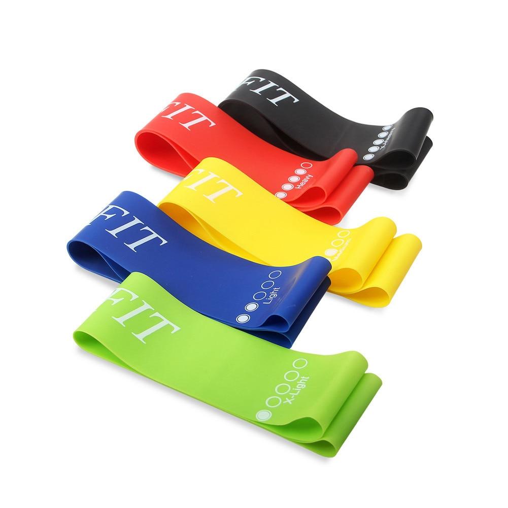 Yoga Rubber Rally Elastic Band Fitness Elastic Yoga Pilates Training Belt Strap Exercise Stretch Belts For Sports Gym Excerise