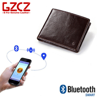 GZCZ 2018 New Rfid Men Wallet Real Leather Short Coin Purse Male Classical Bluetooth Anti theft vallet Clutch portefeuille homme