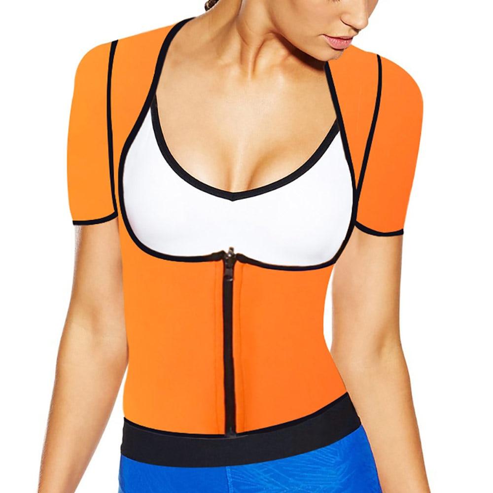 2017 new orange XS - 6XL plus size women sweat enhancing waist...