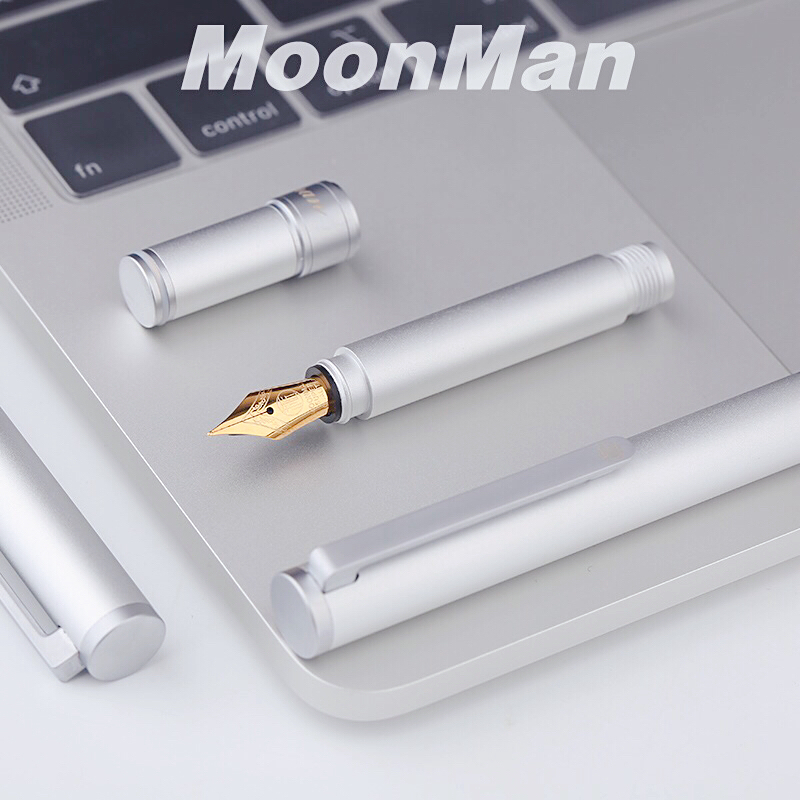 Fountain pen moonman craftsman N1 aluminum alloy short pen portable section fine tip student ink gallbladder pen
