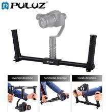 PULUZ Dual Handheld Grip Aluminum Tube Stabilizer For 3-Axis