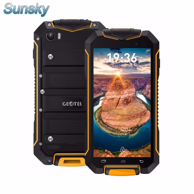 Presale Geotel A1 IP67 Waterproof Gorilla Glass Smartphone Android 7.0 MTK6580 M Quad Core 1.3GHz 1GB 8GB 3400mAh 3G cellphone