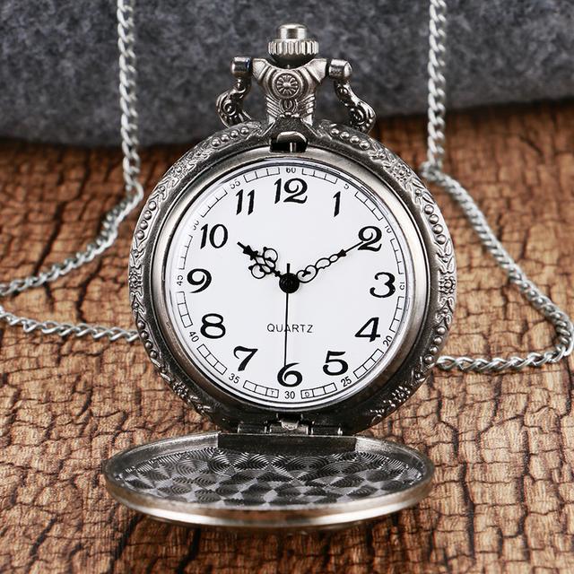 Roaring Lion Pocket Antique Watch & Necklace