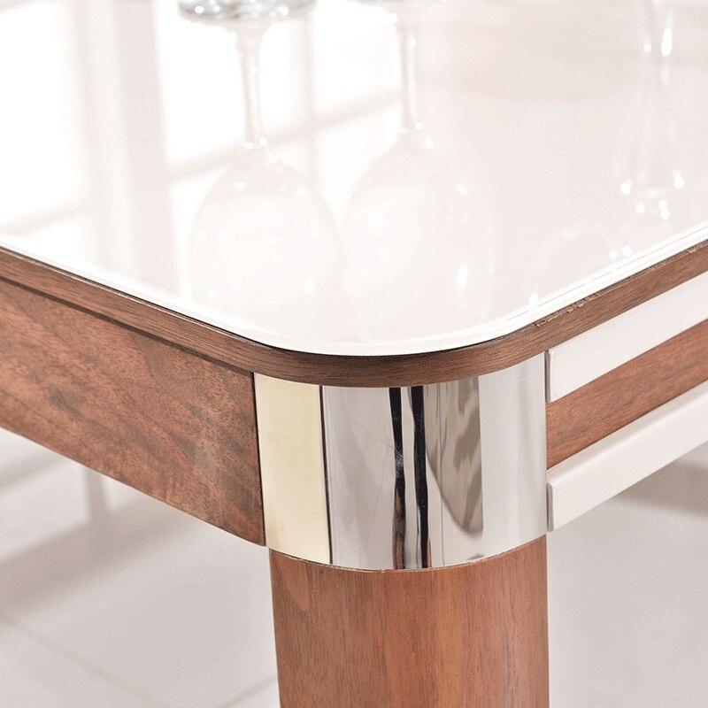 Vidrio templado mesa de comedor mediterráneo mesas muebles para el ...