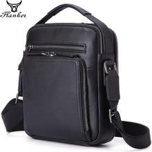 Flanker genuine leather shoulder bags for men fashion messenger zipper designer male crossbody handbags 9.7 Ipad
