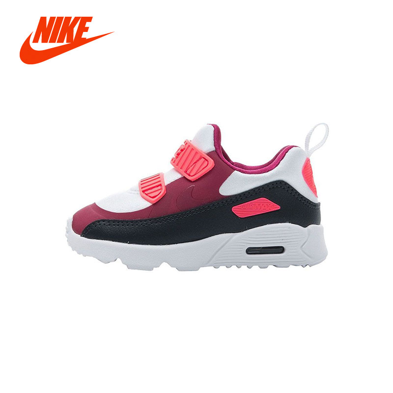 Original New Arrival NIKE AIR TINY MAX 90 (TD) Unisex Girl Boys Sport Sneaker Running Shoes Size 22-32 nike air max 90 красно белые