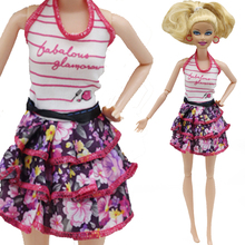 1PCS Doll Clothes Handmade Fashion Lady Outfit Skirt Clothes For Barbie Doll Baby Toys Best Gifts