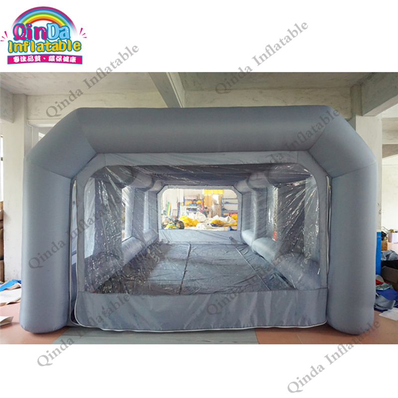 CE Certification Inflatable Car Painting Oven Outdoor Mobile Used Portable Car Inflatable Spray Paint Booth Tent For Sale цена