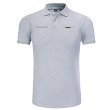 Aston Martin logo Polo Shirt Men Brand Clothes Solid Color Polos Shirts Casual Cotton Short Sleeve Polos