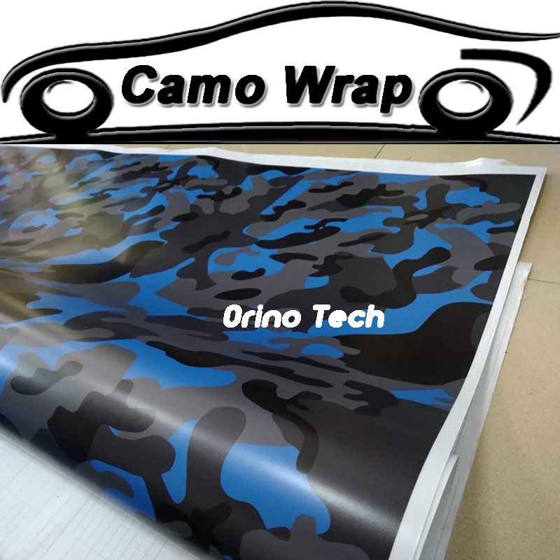 Jumbo Blue Black <font><b>Camouflage</b></font> Film Wrap Adhesive Motorcycle <font><b>Bike</b></font> Truck Car <font><b>Sticker</b></font> <font><b>Camouflage</b></font> Vinyl Wrapping Covers image