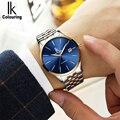 IK coloring мужские часы лучший бренд класса люкс полностью из нержавеющей стали деловые мужские наручные часы механические Автоматические ...