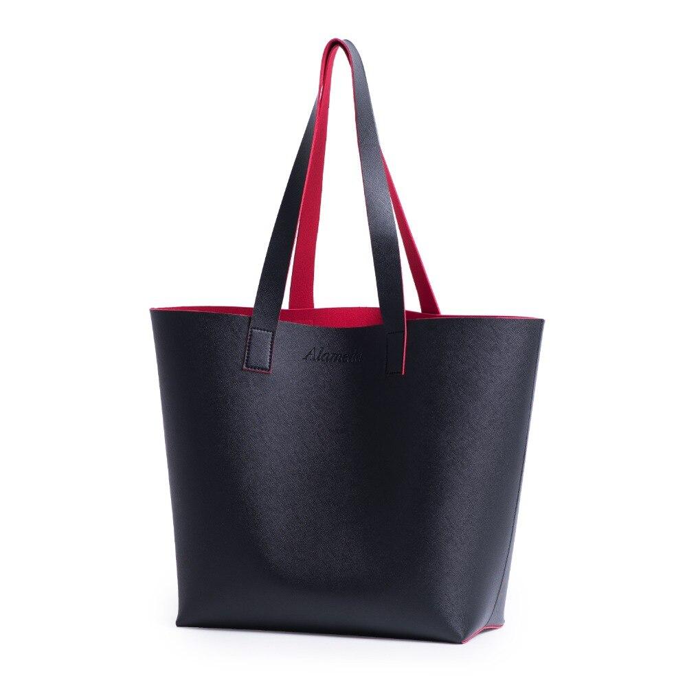 Leather Mummy Tote Bag Stylish Casual Female Handbag for Mom Women bag
