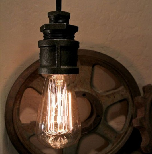American Loft Water Pipe Pendant Light Fixtures Industrial Vintage Lighting For Living Dining Room Bar Retro Hanging Lamp american loft style water pipe lamp retro edison pendant light fixtures for dining room hanging vintage industrial lighting