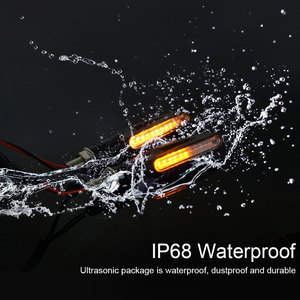 Image 3 - 2 個 4 個ウインカーのバイクled警告ライトウインカー流水フラッシャーライトテールストップインジケータ内蔵屈曲可能なランプ