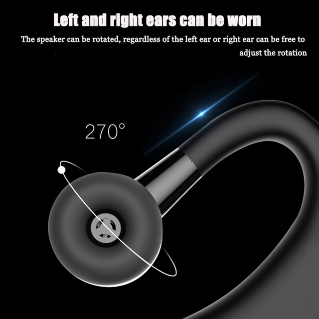 DAONO V9 Handsfree Business Bluetooth Headphone With Mic Voice Control Wireless Bluetooth Headset For Drive Noise Cancelling