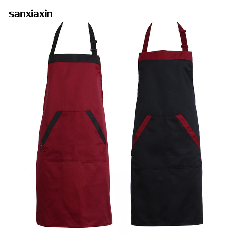Unisex Restaurant Kitchen Apron Adjustable Half Body Adult Apron Striped Hotel Chef Waiter Short Kitchen Cooking Sushi BBQ Apron