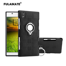 FULAIKATE Ice Cubes Case for Sony Xperia L1 E6 Ring Stand Back Cover G3313 Soft Anti-knock Phone Protective Cases