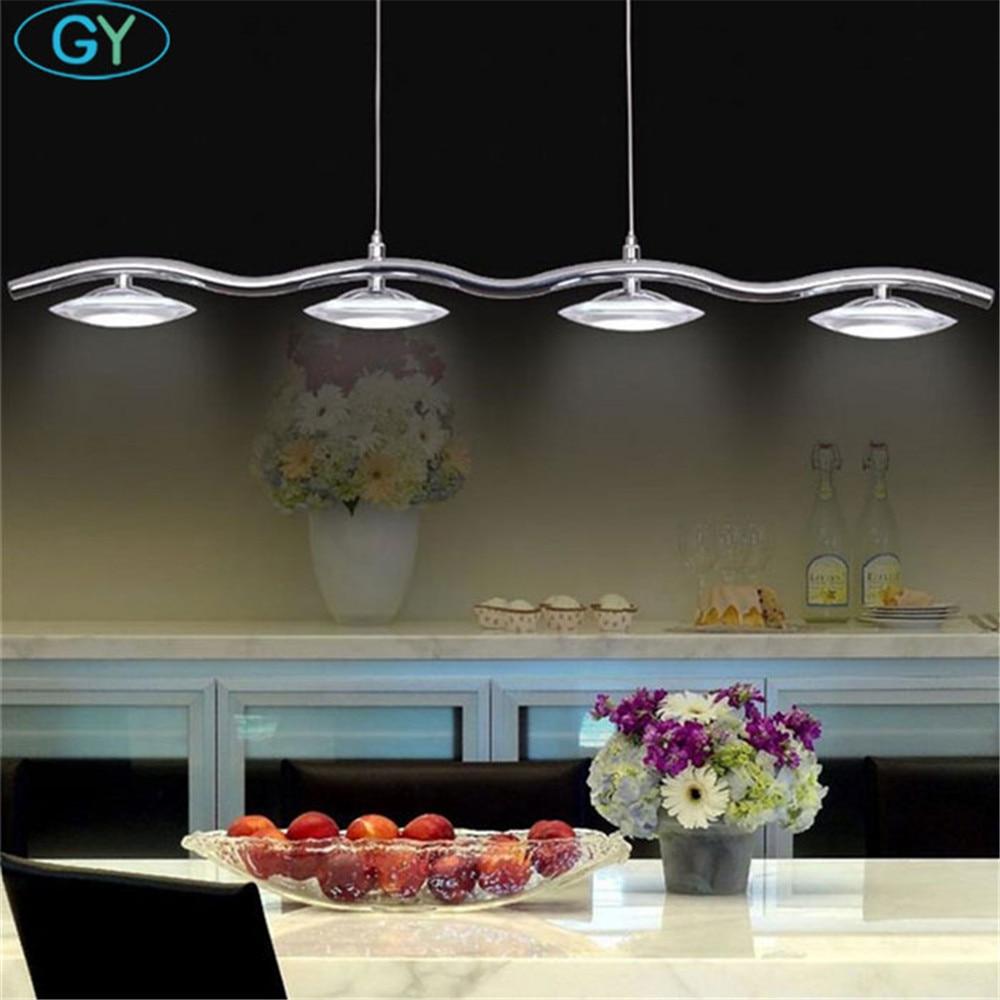modern led lustres lights industrial long lamp for dining