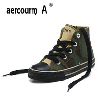Aercourm A 2018 New High Top Children Canvas Shoes Boys Girls Spring Flat Canvas Shoes Outdoor
