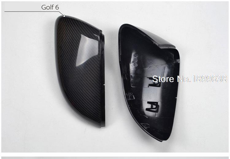 Replacement Carbon Fiber Shell Side Mirror Rearview Reflective Cover For Volkswagen Golf 6 GTI R20 2008-2012 Without LaneAssit carbon fiber side wing mirror cover caps for volkswagen vw golf mk5 2005 2007