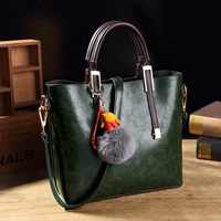 Hand Bag Genuine Leather Women bag Brand Designer Messenger Shoulder Bags High Quality Cow Leather Boston Handbags Large New T58