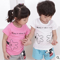2016 boy Mickey set summer new boy and girl cotton short sleeve T-shirt + tracksuit pants