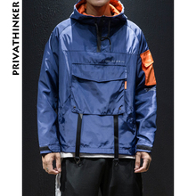 Privathinker Designer Zipper Hoodies 2018 Mens Pockets Sweatshirts Hooded Male Hiphop