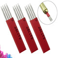 4pcs r3 Permanent Makeup Manual Eyebrow Tattoo Needles Blade For 3D Embroidery Microblading Tattoo Pen Machine